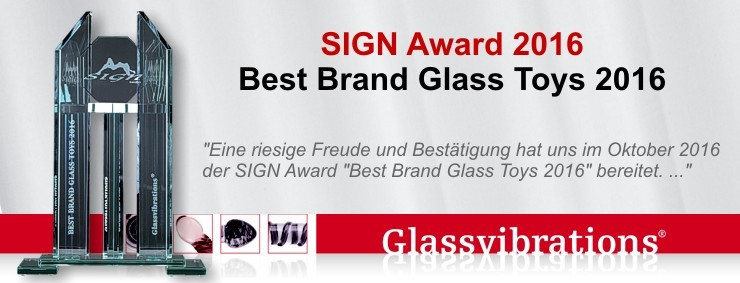 GLASSVIBRATIONS brilliert - Best Brand Glass Toys Award 2016