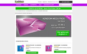Screenshot Kondomoutlet.de
